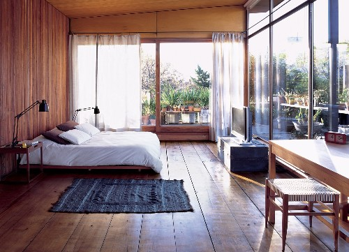 Articles about cozy and modern indoor outdoor bedroom buenos aires on Dwell.com