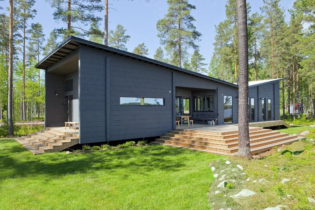 Modern Log Cabin Home Kits by HONKA - Prefab Log Cabin Kits in Finland