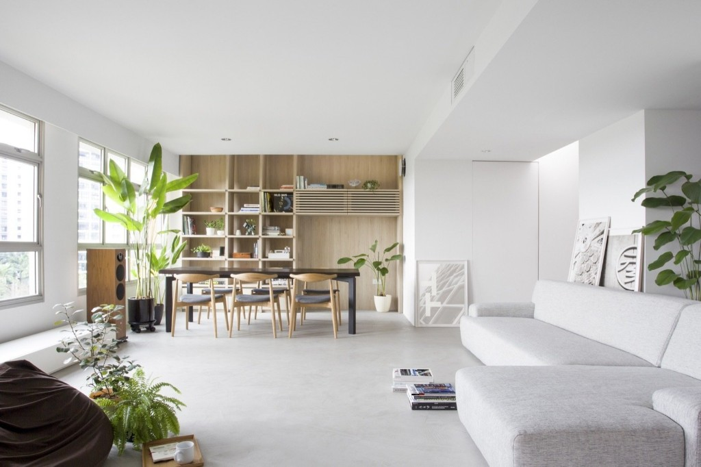 A Japanese-Inspired Flat in Singapore Embraces Flexible Spaces