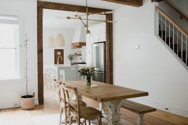 Before & After: A 19th-Century Row House Becomes a Boho Newlyweds' Nest