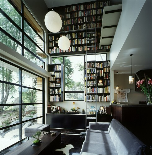 Articles about japanese style box home boasts two story bookcase on Dwell.com