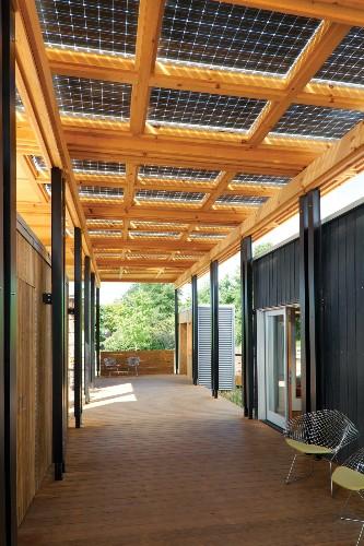 Solar Panels Cover a Porch in North Carolina