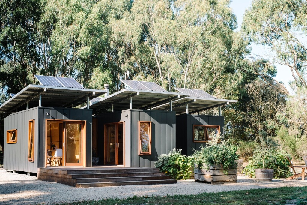 Tiny Shipping Container Home in Wattle Bank by Modhouse