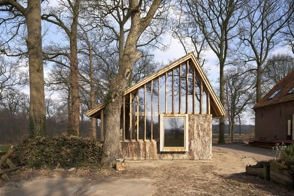 This Charming Wooden Barn in the Netherlands Utilizes Every Part of the Tree