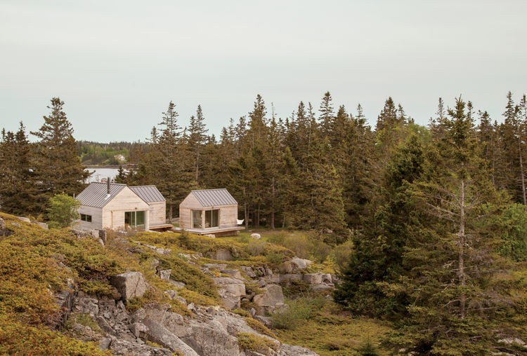 Articles about cluster cabins former quarry makes simple vacation escape on Dwell.com - Dwell