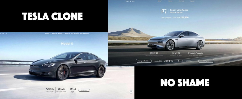 Tesla-clone Xpeng now even copies Tesla's website - Electrek