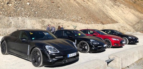 Porsche doesn't like 'Tesla comparison', says wasn't a factor despite benchmarking Model S