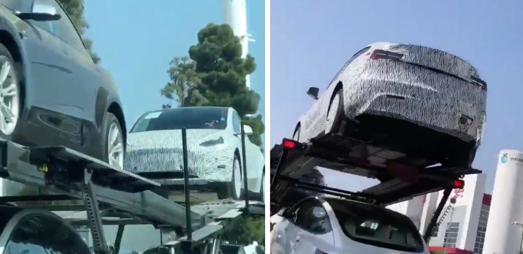 Tesla prototype in rare camouflage spotted at LA design studio - Electrek