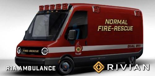Rivian is developing an electric ambulance, hints at Amazon delivery van range - Electrek