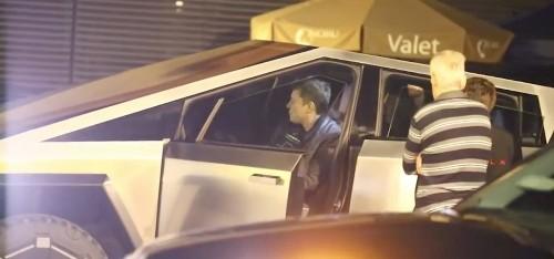 Elon Musk spotted driving Tesla's new Cybertruck electric pickup around LA