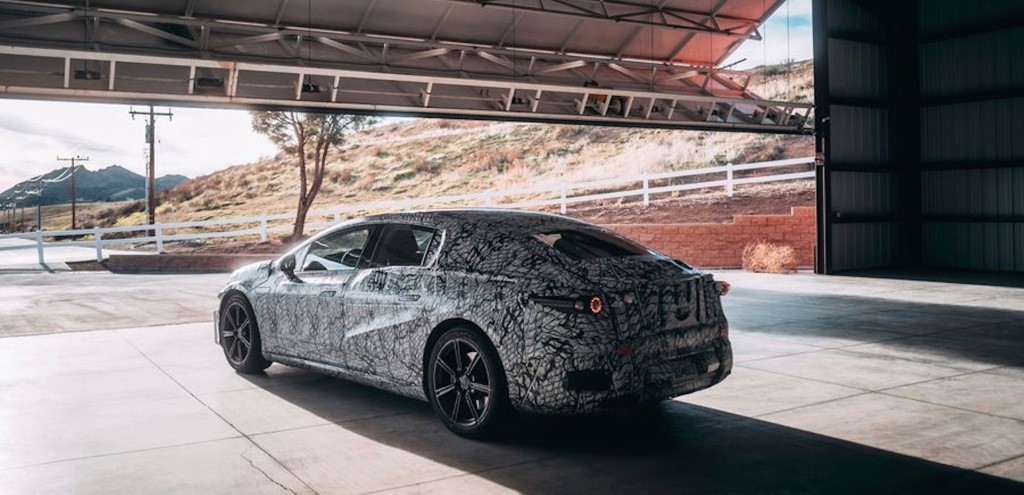 Mercedes-Benz reveals first production EQS electric car picture - albeit camouflaged - Electrek