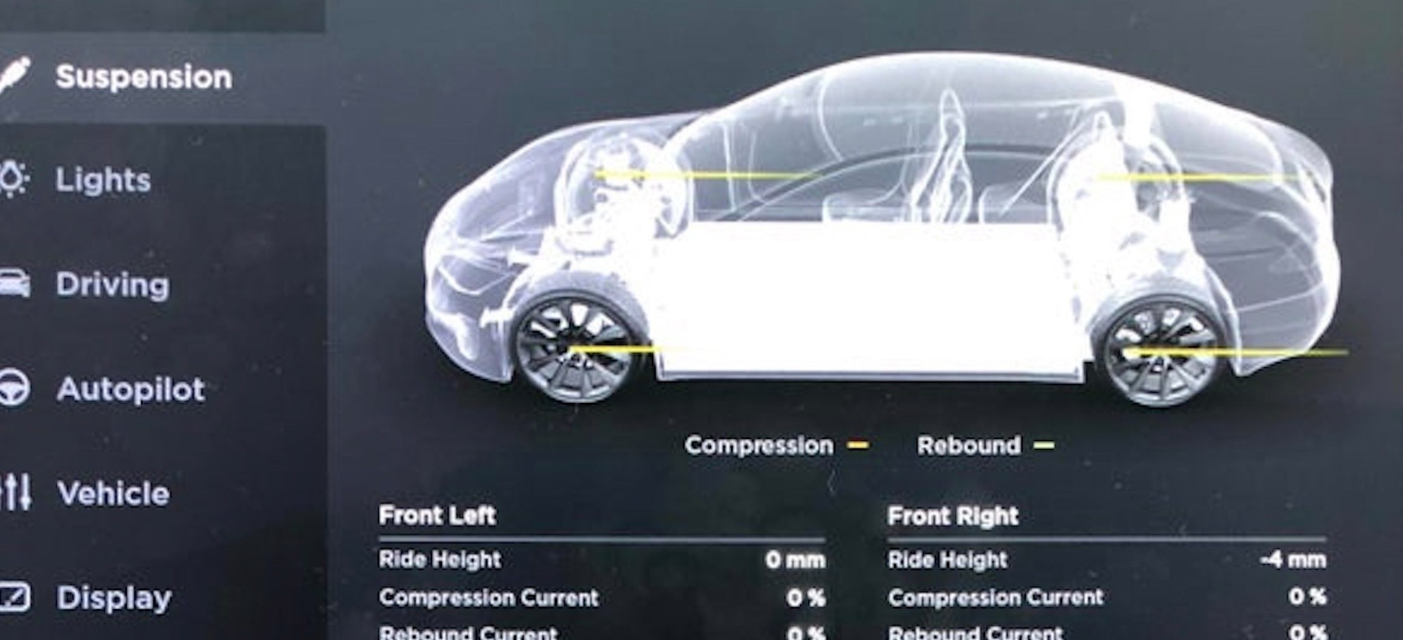Tesla releases software update with interesting new features with suspension settings, and more - Electrek