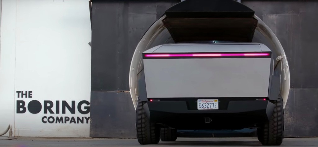 Watch Tesla Cybertruck drive into The Boring Company's tunnel - Electrek