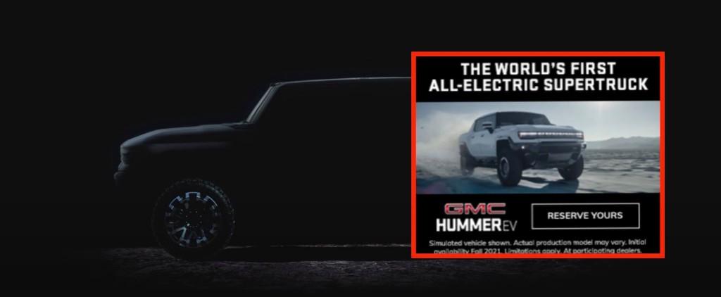GMC Hummer EV electric pickup design leaks in ad ahead of unveiling - Electrek
