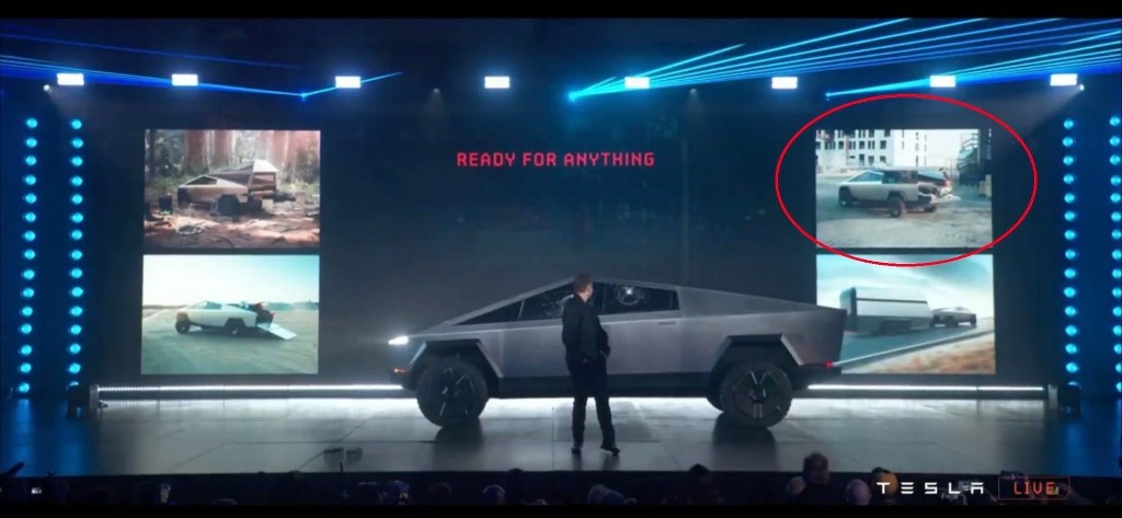 Tesla Cybertruck might have a ladder rack based on newly found render, making workers happy - Electrek
