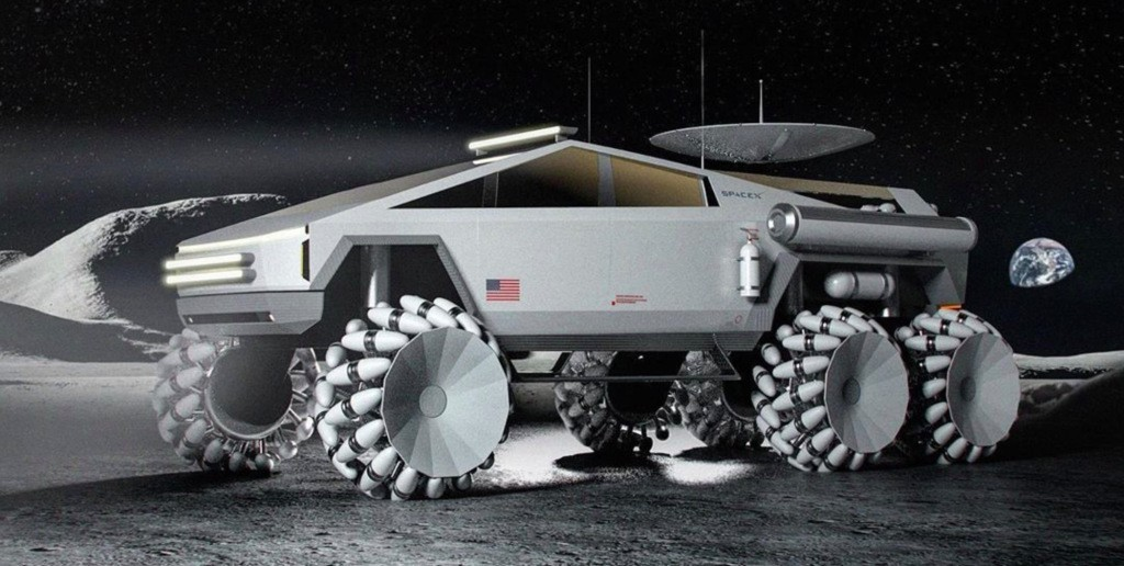 Tesla Cybertruck modified as awesome lunar vehicle - could it become reality? - Electrek
