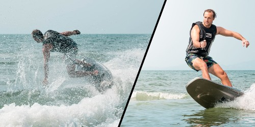 Awake's new 35 MPH electric surfboard flies over the water with a 15 hp motor