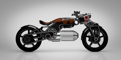 The well-endowed Curtiss Hades electric motorcycle gets a little more modesty
