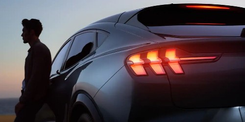 Ford Mustang Mach-E's Sequential Turn Signals Spotted Live