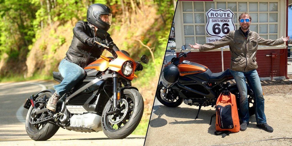 Harley-Davidson LiveWire electric motorcycle rider makes 3,500 mile trip