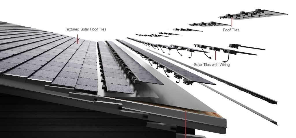 First look at Tesla's solar roof tile technology with custom fittings - Electrek