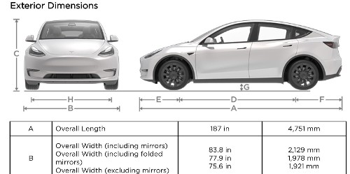 Tesla Model Y specs: we finally know how big it is - Electrek