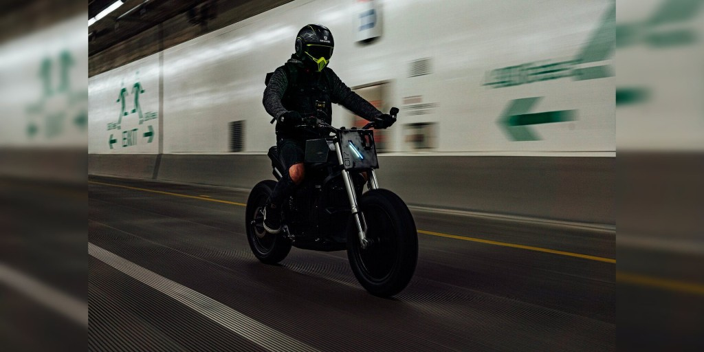 Believe it or not, this E-Fighter electric motorcycle is based on a Zero DS