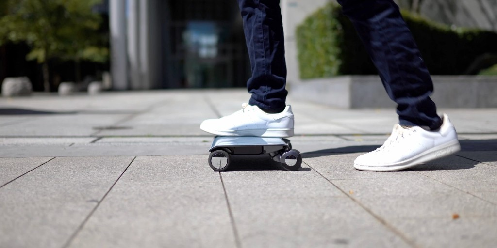Walkcar electric scooter is the size and shape of a 10 MPH laptop