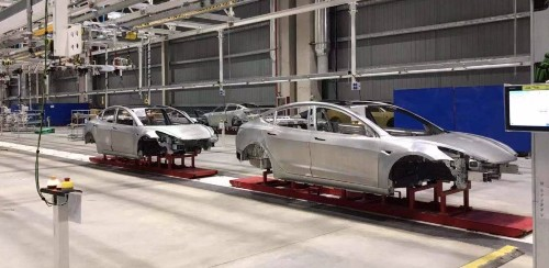 Tesla produces complete Model 3 body-in-white at Gigafactory 3, production to start Oct. 14