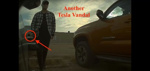 Tesla Sentry mode catches several more people vandalizing cars – help find them