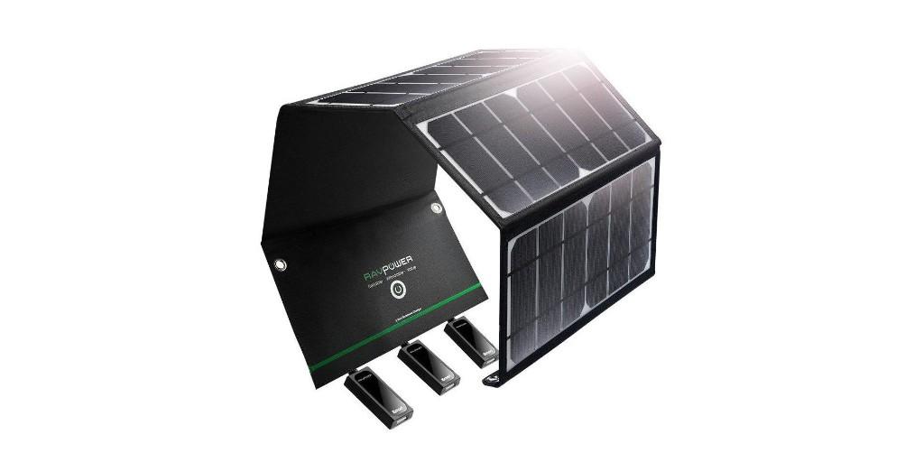 RAVPower 28W solar panel has three 2.1A USB ports: $41 (Reg. $75), more in today's Green Deals - Electrek