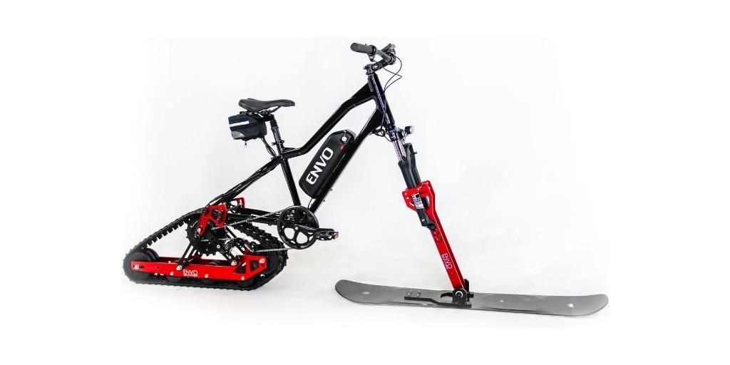 New conversion kit turns mountain bike into electric snowmobile - Electrek
