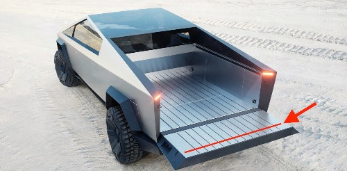 Tesla Cybertruck will be able to carry full 4×8 sheet with a 'flip stop' feature on tailgate