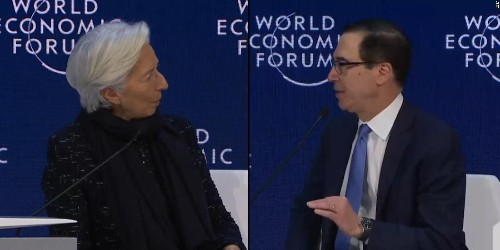 Europe and US clash over climate change at Davos