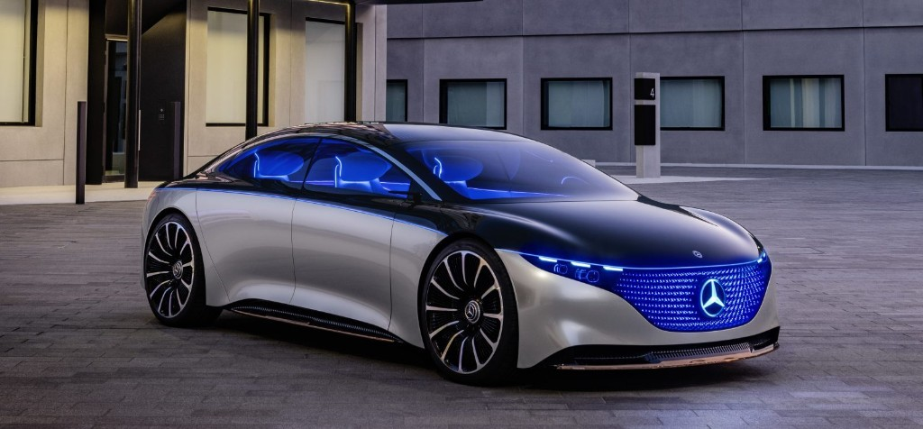 Mercedes-Benz unveils EQS electric sedan concept with 435 miles of range and 350 kW charging - Electrek