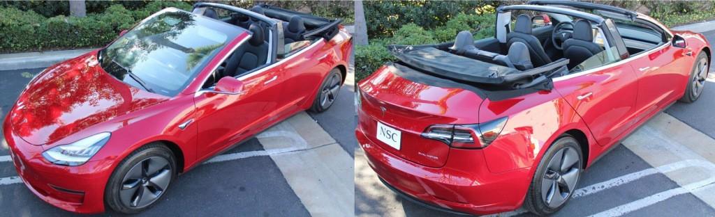 Tesla Model 3 turned into convertible - Dope or Nope? - Electrek