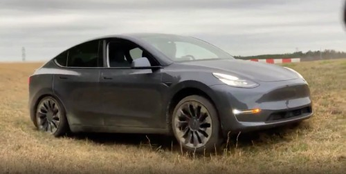 Watch Tesla Model Y drift, go off-road, and accelerate from 0-60 mph - Electrek
