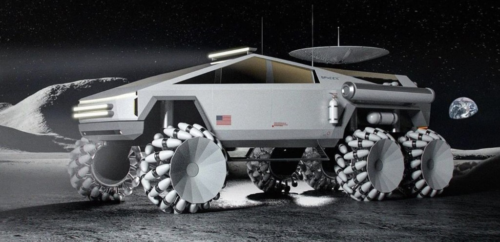 Tesla Cybertruck modified as awesome lunar vehicle — could it become reality? - Electrek