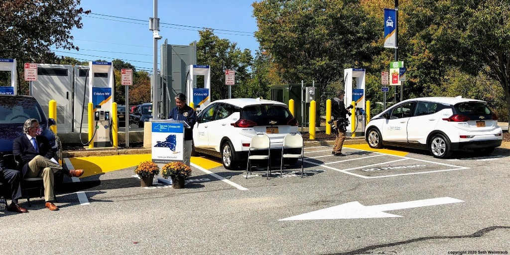 NYPA's EVolve NY opens first of many 350kW charging stations that will blanket the state - Electrek