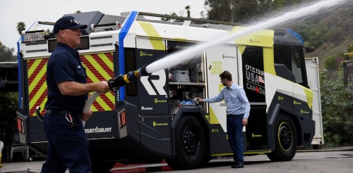 Los Angeles City Fire Department buys 'first electric fire truck in North America' - Electrek