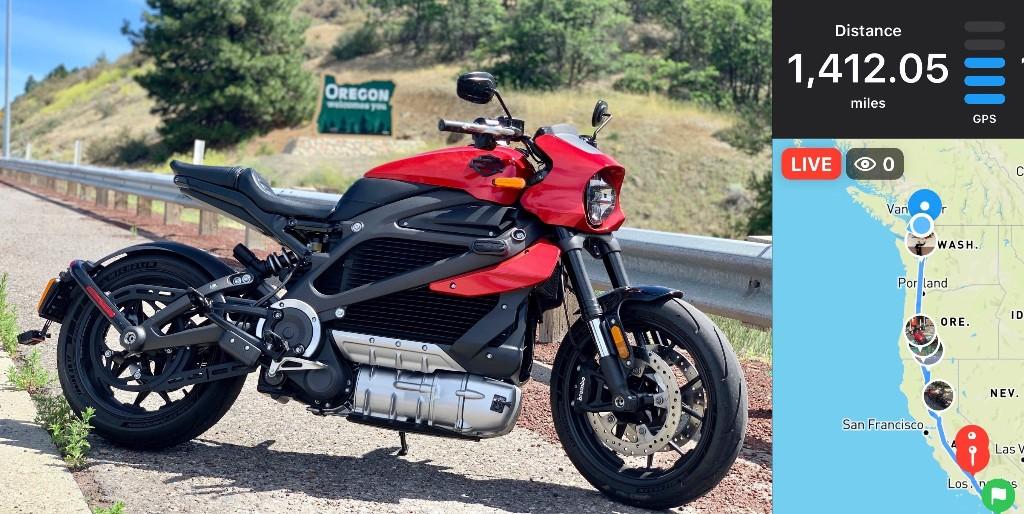 Harley-Davidson LiveWire rider completes Mexico to Canada electric border run - Electrek
