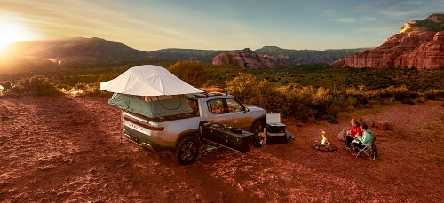 Rivian releases video of its electric pickup truck camper option