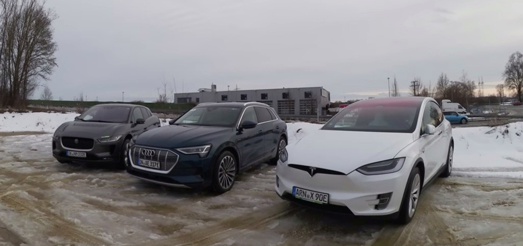 Tesla's incredible efficiency lead is becoming clear with range test against Audi e-tron and Jaguar I-Pace - Electrek
