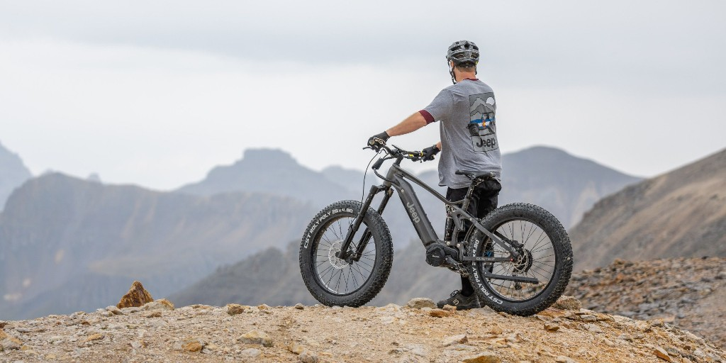 Behind the scenes look at Jeep's new high power full suspension e-bikes