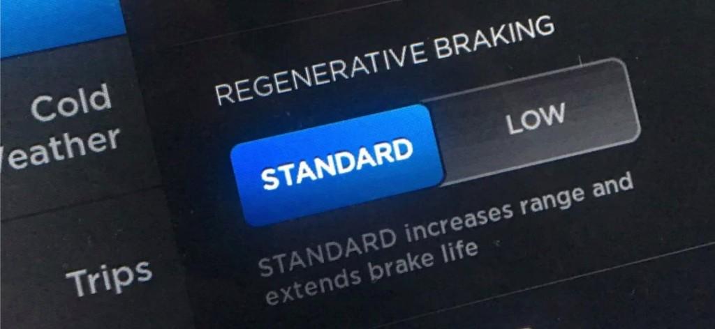 Tesla mysteriously removes regenerative braking strength option in new cars - Electrek