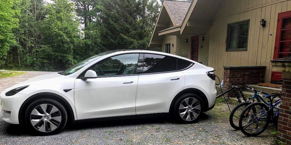 Tesla Model Y diary: Day 4 range test family trip with bikes - Electrek