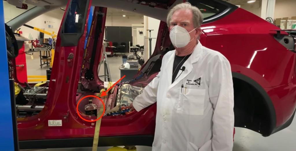 Tesla Model Y teardown: wiring, octovalve, and whisky - Electrek