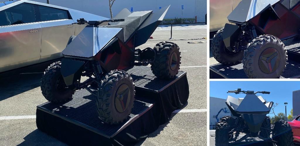 Close look at Tesla Cyberquad electric ATV prototype [Gallery] - Electrek