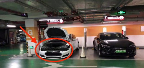 Tesla owner gets his bumper dismantled for 'parking at Supercharger without charging'