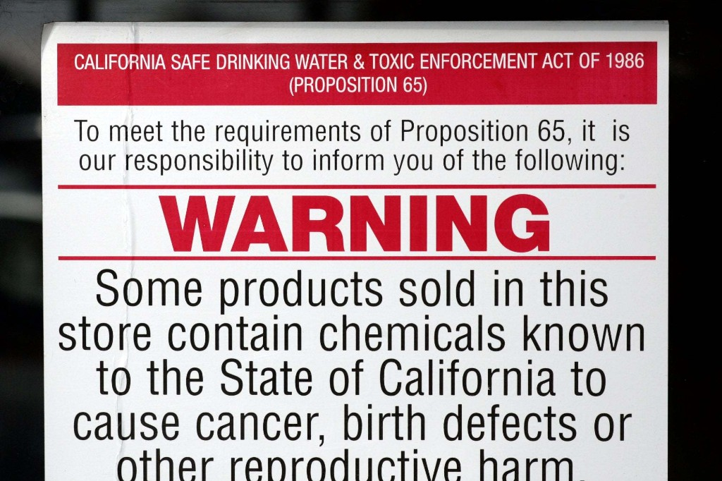 What You Need To Know About Changes To California's Prop 65